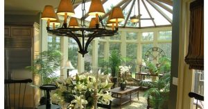 Sunroom With Flowers