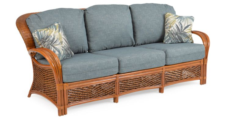Lucia Ratta Wicker Sunroom Sofa