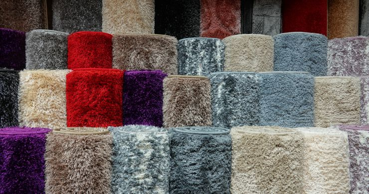 Rugs in assorted colors