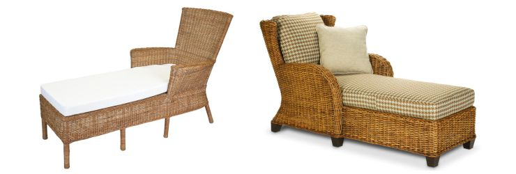 Indoor Wicker Chaise Lounges