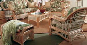 Coastal Seascape Rattan Furniture Set
