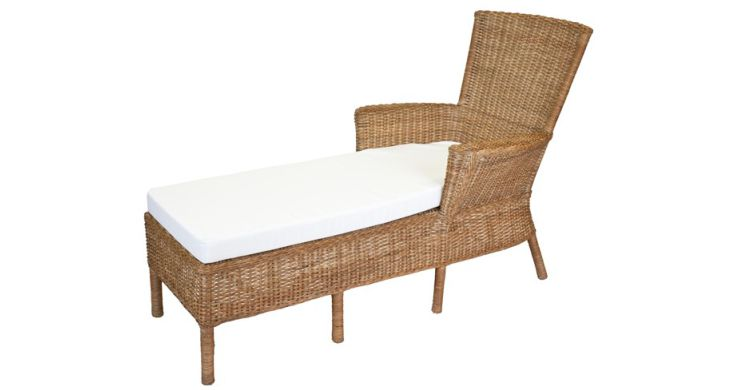 Sausalito Wicker Chaise Lounge with Arms