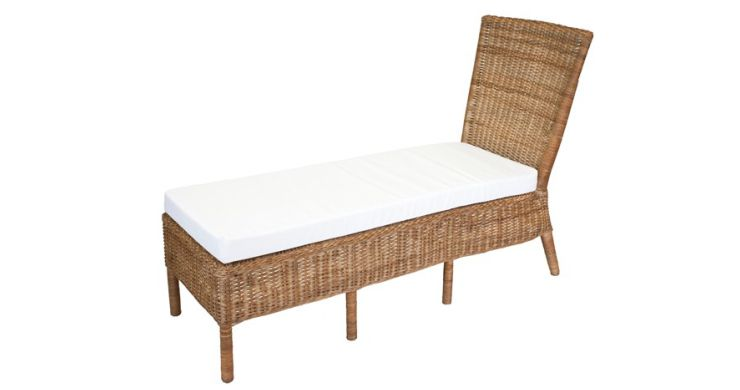 Sausalito Wicker Chaise Lounge without Arms