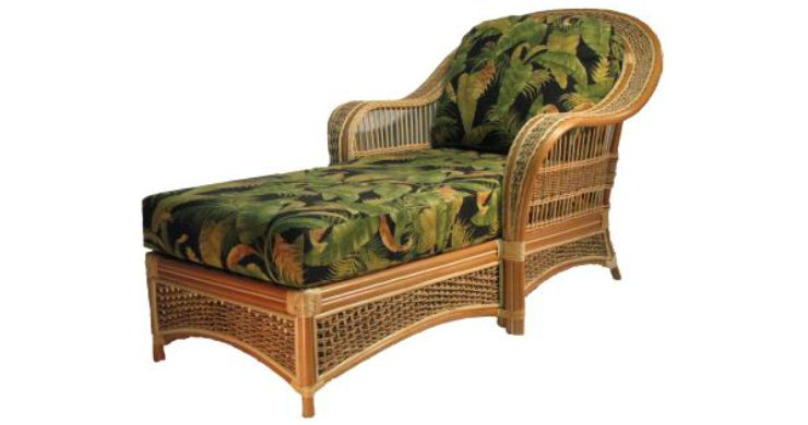 Spice Island Rattan Chaise Lounge